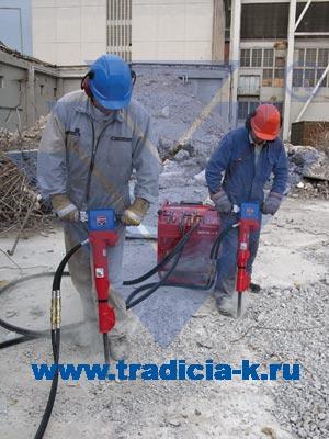Гидравлический инструмент в работе